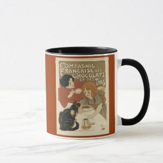 Chocolats e caneca de café dos thes do DES