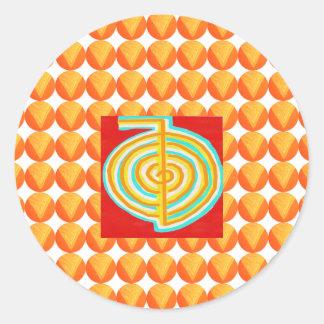 CHOKURAY: Símbolo cura de Reiki do RAIO de CHO KU Adesivo Redondo