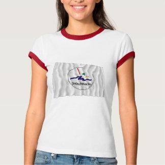 Chollabuk-faz a bandeira de ondulação t-shirt