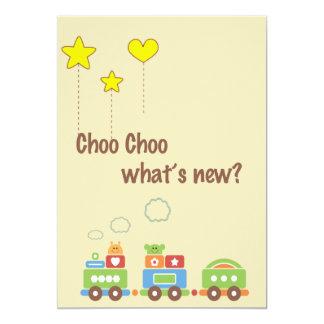 Choo Choo o que é novo? Anúncio da foto da Convite 12.7 X 17.78cm