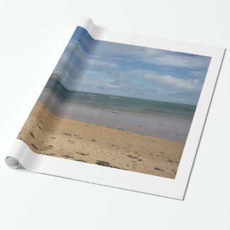 Choque do mar papel de presente