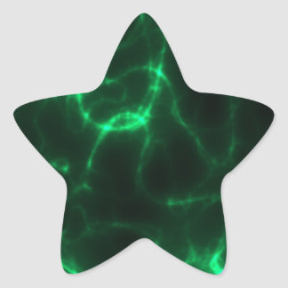Choque eléctrico em verde escuro adesito estrela