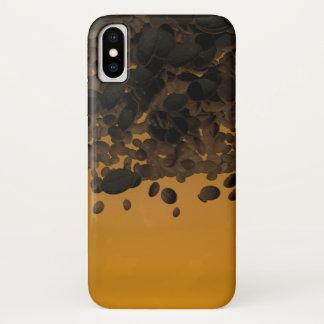 Chovendo capas de iphone do café