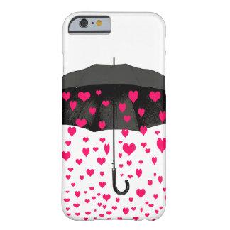 Chovendo o iPhone dos corações 6 cobrir do caso Capa Barely There Para iPhone 6