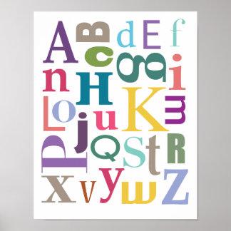 Chowder do alfabeto pôster