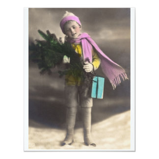 *Christmas Child* do vintage Convite 10.79 X 13.97cm