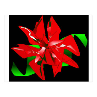 Christmas Flower Customizable Postcard