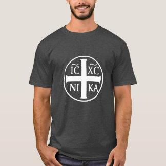 Christogram ICXC NIKA Jesus conquista o cristão Camiseta