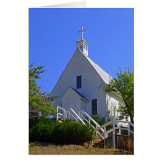 Chruch católico cartão comemorativo