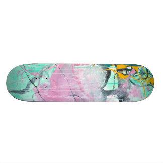 Chrystarium - expressionism abstrato cor-de-rosa shape de skate 20,6cm