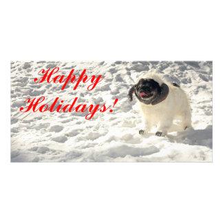 Chubbs o cartão de Wampug boas festas Cartões Com Foto