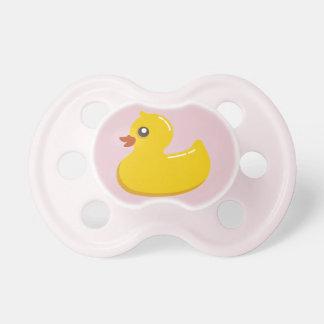 Chupeta 0-6 meses Ducky de borracha cor-de-rosa do