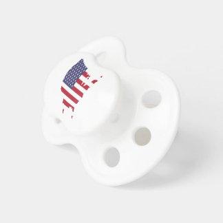 Chupeta a arte de América limita a bandeira de país da