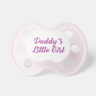 Chupeta A menina do pai cor-de-rosa & roxo