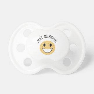 Chupeta a piada bonito engraçada diz o queijo