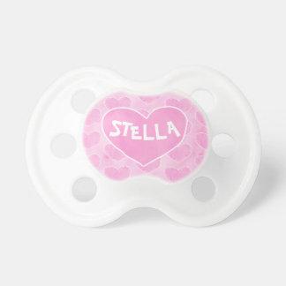Chupeta Aguarela cor-de-rosa Stella personalizada