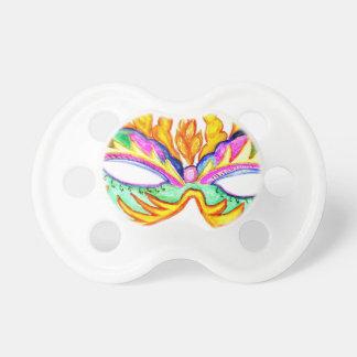 Chupeta Aguarela da máscara do carnaval