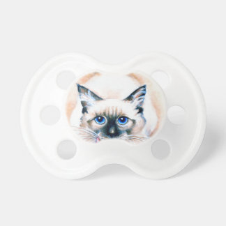 Chupeta Aguarela do gato Siamese