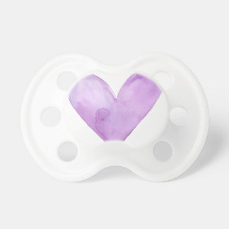 Chupeta Aguarela Purple Heart, coração dos namorados