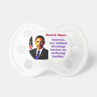 Chupeta América nossas bênçãos infinitas - Barack Obama