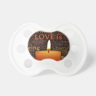 Chupeta Amor, citações da vela