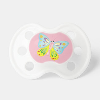 Chupeta amor colorido bonito da borboleta