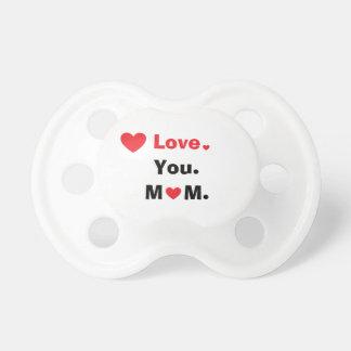 Chupeta Amor personalizado você mamã com corações