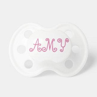 Chupeta Amy Paci cor-de-rosa