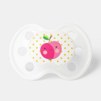 Chupeta Apple cor-de-rosa 0-6 meses de Pacifier de