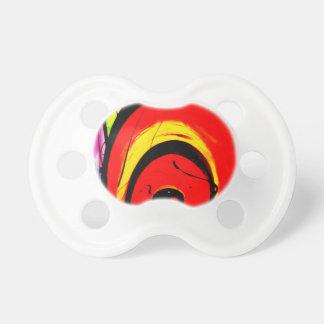Chupeta Arte abstracta vermelha do redemoinho
