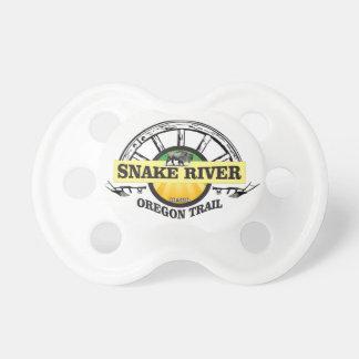 Chupeta arte amarela do rio Snake