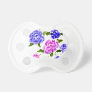 Chupeta Arte colorida das flores