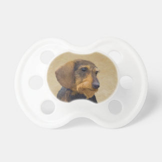 Chupeta Arte original de pintura (Wirehaired) do cão do