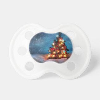 Chupeta Árvore de Natal - decorações do Natal - flocos de