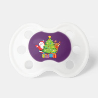 Chupeta Árvore de Natal do divertimento com Papai Noel e