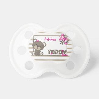 Chupeta As flores do urso de ursinho das meninas
