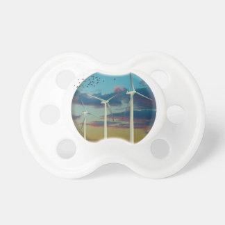 Chupeta As turbinas eólicas pintaram o céu