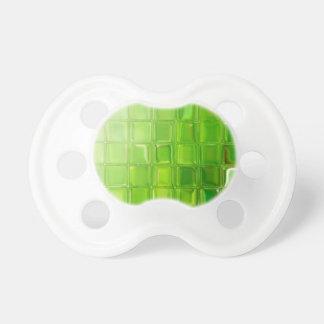Chupeta Azulejos do vidro verde
