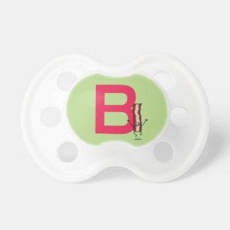Chupeta B é para a letra de salto feliz do ABC da tira do