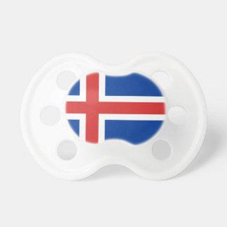 Chupeta Baixo custo! Bandeira de Islândia