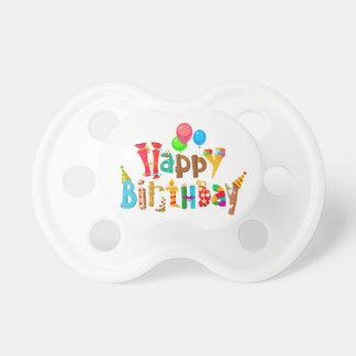 Chupeta balões do arco-íris do amor do feliz aniversario