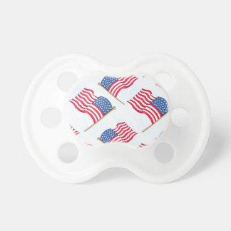 Chupeta Bandeira americana 4o do azul branco vermelho de