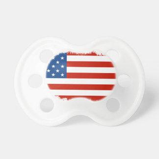 Chupeta Bandeira americana afligida