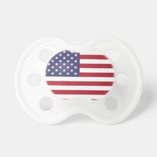 Chupeta Bandeira americana branca e azul vermelha