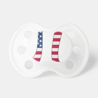 Chupeta Bandeira americana do dia do Pi, símbolo do pi