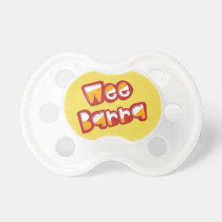 Chupeta Barra pequenino, Pacifier escocês do bebê do