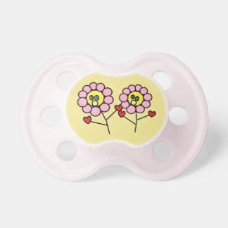 Chupeta Bebé adorável do design das flores do rosa da
