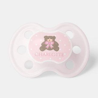 Chupeta Bebé doce do urso de ursinho da fita bonito do