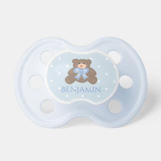 Chupeta Bebé doce Pastel bonito do urso de ursinho da fita