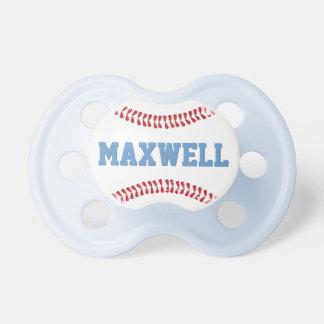 Chupeta Bebé feito sob encomenda do design do basebol do